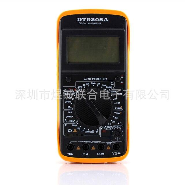 DHL/Fedex 100PCS DT9205A Digital Multimeter Handheld Multimeter 9205A Universal Table