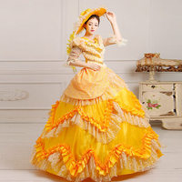 High Quality Marie Antoinette Masked Ball Gothic Victorian Ball Gown Lace Gown Civil War Costume Renaissance