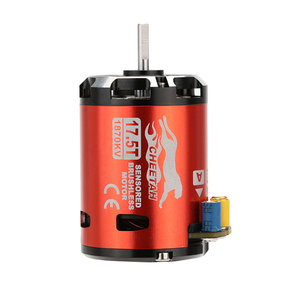 SkyRC 1870KV 17.5T 2P Sensored Brushless Motor+CS60 60A Sensored Brushless ESC+LED Program Card Combo Set for 1/10 1/12 RC Car