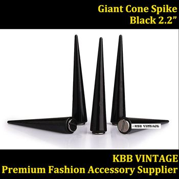 50pc 2.2'' Giant Cone Spikes Metal Punk Spikes Black