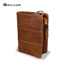 Genuine Leather Men Wallet Small 2019 New Men Walet Zipper&Hasp Male Portomonee Short Coin Purse Brand Perse Carteira For Rfid