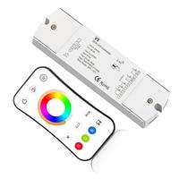 New Led RGB +CCT Strip Controller 2.4G RF Remote Wireless 4A*5CH Output DC12V 24V 1 zone RGB CCT Led Strip Controller V5+R17