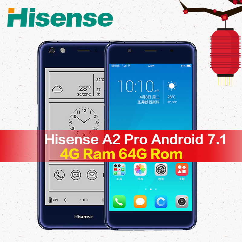 Hisense A2 Pro mobile phone 4G 64G NFC fingerprint telefon snapdragon 625 android smartphone 4G Lte with two screens
