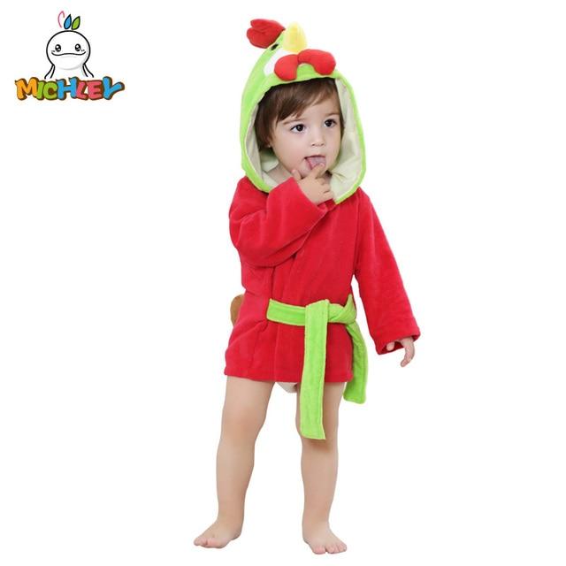 MICHLEY Baby Towels 2018 New Girls Spring Soft Bathrobes Infant Cartoon  Cotton Animal Hooded Bath Towel 5245310a4