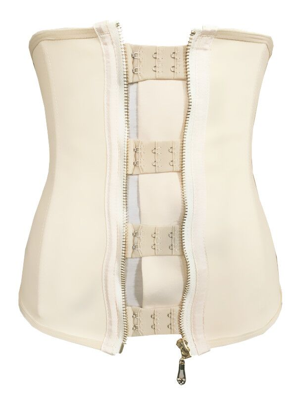 free shipping Zip and clip Nude Latex Waist Cincher Trainer ...