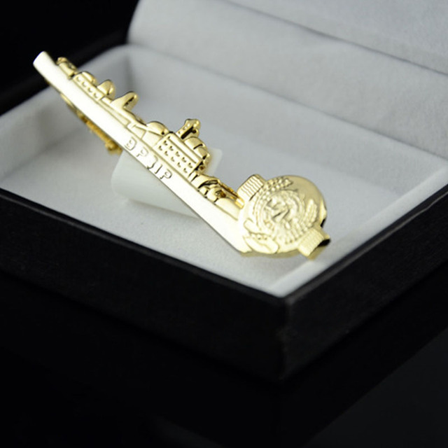 Mdiger High Gold Tie Clip Clips Shape Collar Pin Men's