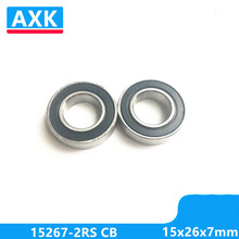 Axk Free Shipping 2pcs/lot 15267-2rs Hybrid Ceramic Ball Bearing 15x26x7mm 15267 2rs Bike Wheels Bottom Bracket Repair Bearing free shipping free shipping 10pcs 5x11x4 hybrid ceramic stainless greased bearing smr115c 2os a7