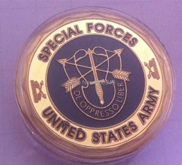US $18 5 |Ebay hotsales,5pcs/lot Free shipping Army Special Forces Green  Beret Challenge Coin,24k gold plated Souvenir Coin-in Non-currency Coins  from