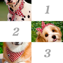 5 piece Dog Bandana Plaid Pet Scarf Bow ties