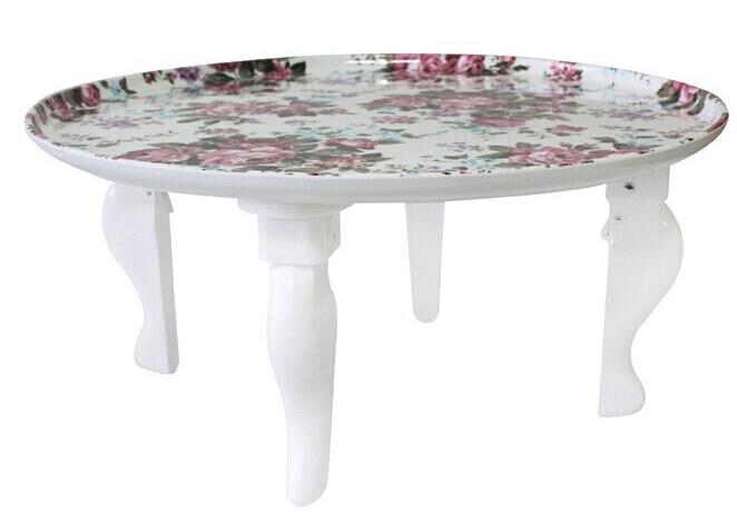 Koreanische Tischbeine Faltbare Weiß Lackiert Wohnzimmer Möbel Runder  Couchtisch Asian Modernes Mode Boden Niedriger Esstisch(