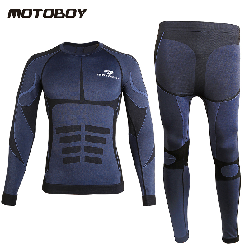 Motoboy Men Outdoor Sports Sweat absorbent long Sleeves Motorcycle Shirt Drying Quick Breathable Motocross one set L XL XXL