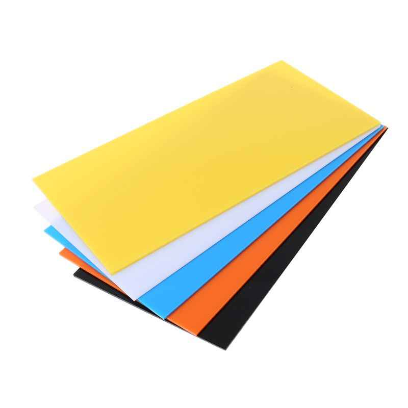 10X20cm Plexiglass Board Colored Acrylic Sheet DIY Toy Accessories Model Making