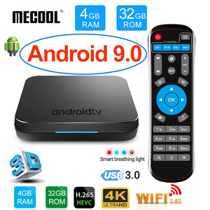 MECOOL KM9 Android 9.0 Smart TV Box Amlogic S905X2 DDR4 4GB RAM 32GB ROM USB3.0 4K HDR 2.4Ghz/5GHz Wifi BT4.1 IPTV Set top box
