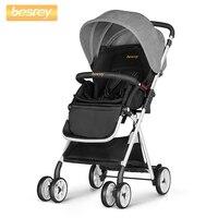 Besrey детская коляска для новорожденных детская коляска складная коляска + дождевик детская коляска