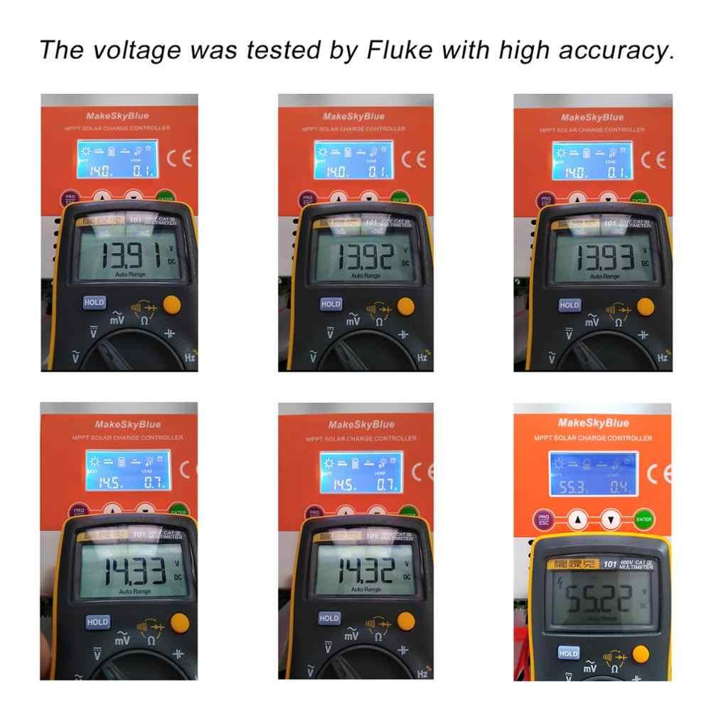 MakeSkyBlue 60 Amp MPPT Solar Charge Controller LCD Display Auto 12V//24V//36V//48V