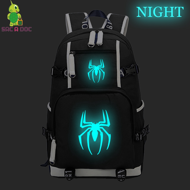 SAC A DOC big Backpacks Spider-man College Bag Travel Bagpack Luminous School Bag Teenager Computer Backpack Mochilas EscolarSAC A DOC big Backpacks Spider-man College Bag Travel Bagpack Luminous School Bag Teenager Computer Backpack Mochilas Escolar
