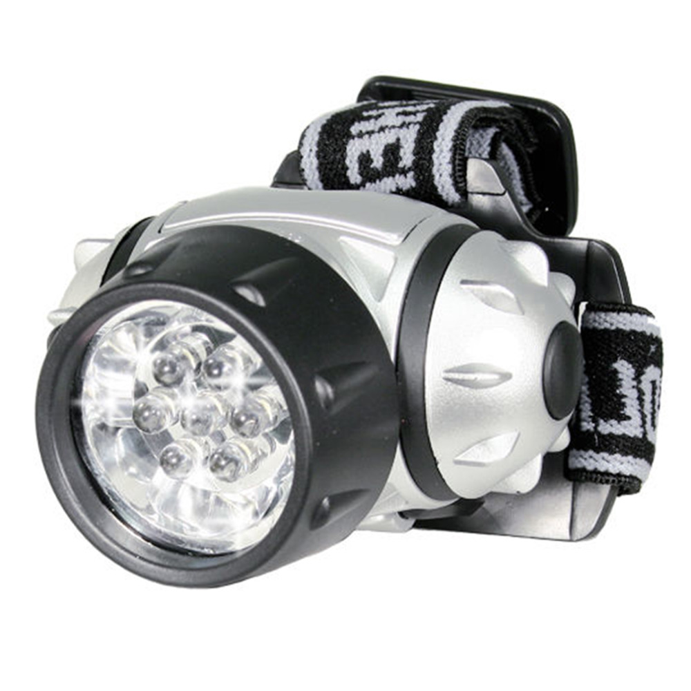 7 LED Adjustable Headlamp Long Lasting Convenience Bulbs Hands Free Strap Super Bright Head Lamp Pivoting Light Ship from USA