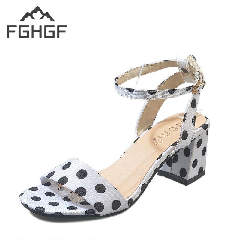 De Mujer Fghgf Polka Sweet Dot Moda Sandalias Zapatos Oferta BoCxWrde