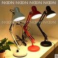 Led book light Iron Morden American Foldable Long-Arm  Can clip Desk Lamp Reading Lamp E27 110V 220V Clip Office Lamp For Study