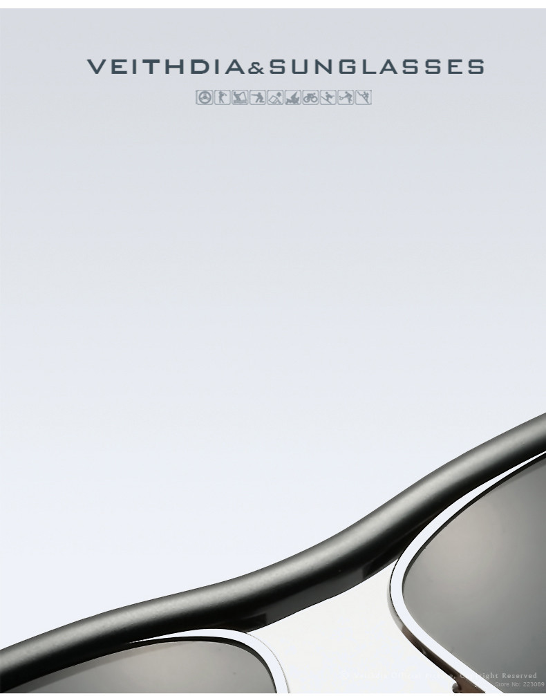 HTB1gHW9LpXXXXagXXXXq6xXFXXXv - VEITHDIA Brand Aluminum Magnesium Men's Sun glasses Polarized Mirror Lens Eyewear Accessories Sunglasses For Men Oculos 6381