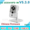 2015 DS-2CD3410FD-IW 1.0MP ИК Куб сетевая камера full HD 720 P в реальном времени vedio WIFI многофункциональный IP-КАМЕРА камера