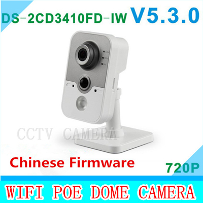 2015 DS-2CD3410FD-IW 1.0MP IR Cube network camera full HD 720P real-time vedio WIFI multi-function IP camera cd диск fleetwood mac rumours 2 cd
