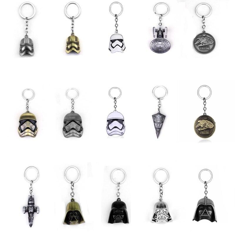 Hot Game Movie Star Wars Series Keychain Spacecraft Storm Trooper Helmet Milennium Falcom 3D Darth Vader Key Chain Jewelry Gifts