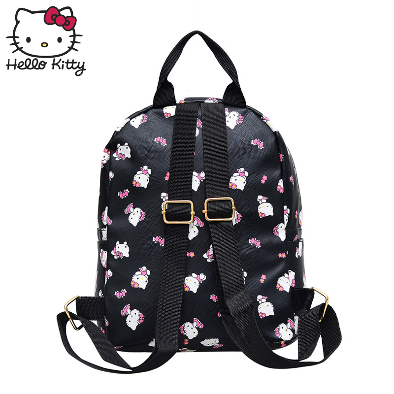 d1e3cfabe Hello Kitty Cute Cartoon Bag hellokitty Fashion Women Single Shoulder PU  Waterproof Girl Schoolbag Shoulder Plush Backpack-in Plush Backpacks from  Toys ...