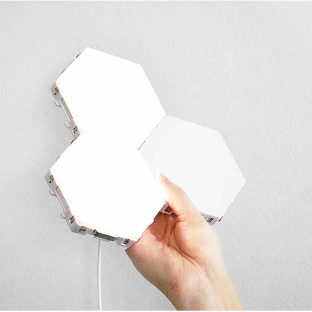 Светодиодный квантовый светильник шестиугольный модульный сенсорный чувствительное освещение ночного света магнитные шестигранники креативный настенный светильник-бра декоративный США/ЕС