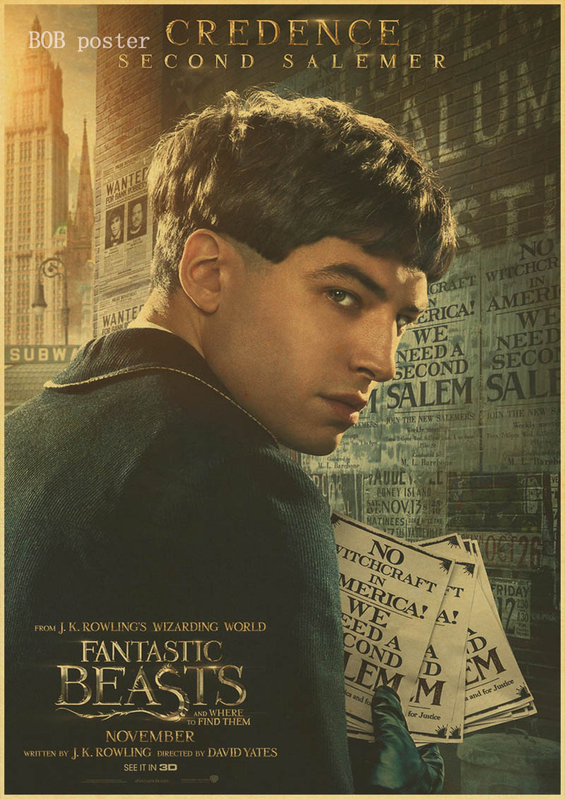 Fantastic Beasts and Where to Find Them J.K. Rowling Film Poster ...