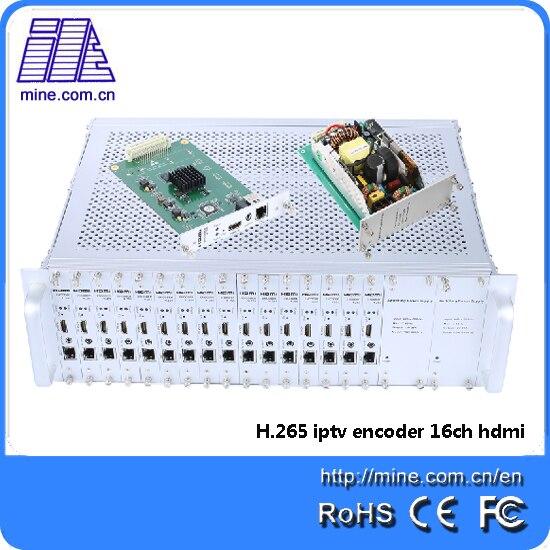 2017 Neueste H.265 Hd Digital Video Encoder 16 Kanal H.265 Hdmi Iptv Hd Encoder Exquisite (In) Verarbeitung