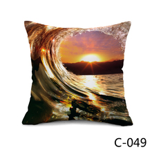 Здесь можно купить  Tahiti Island and Surfing Wave Throw or Bed Cushion with filler or without filler for two Choice