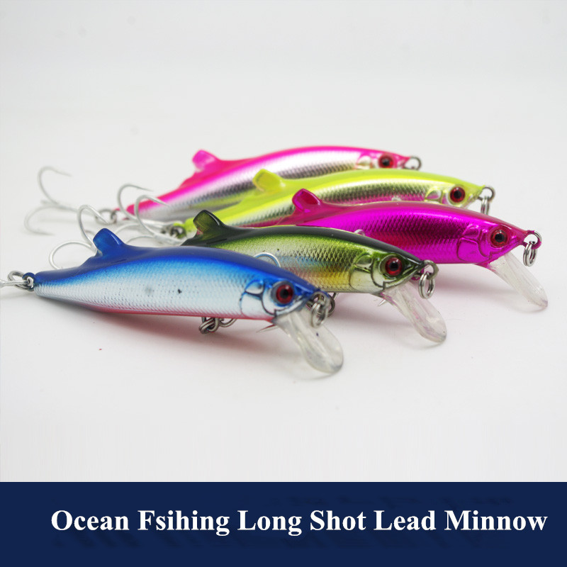 Long Range Lead Minnow 90mm 27g Big Game Ocean Fishing Lure Artificial Hard Lures Castin ...