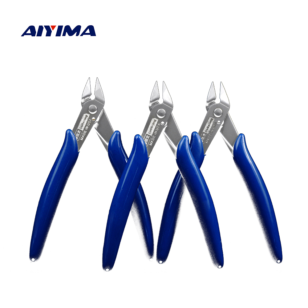 Aiyima Diagonal Cutting Pliers DBL-170 Electrical Wire Cable Cutters Cutting Side Snips Flush Pliers Nipper Hand Tools cable type flexible wire long reach hose clip pliers hose clamp pliers for auto vehicle car repairs tools