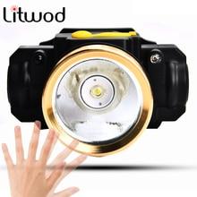 Litwod Z20 светодиодный датчик движения тела налобный фонарь перезаряжаемый мини-налобный фонарь перезаряжаемый уличный фонарь для кемпинга Головной фонарь