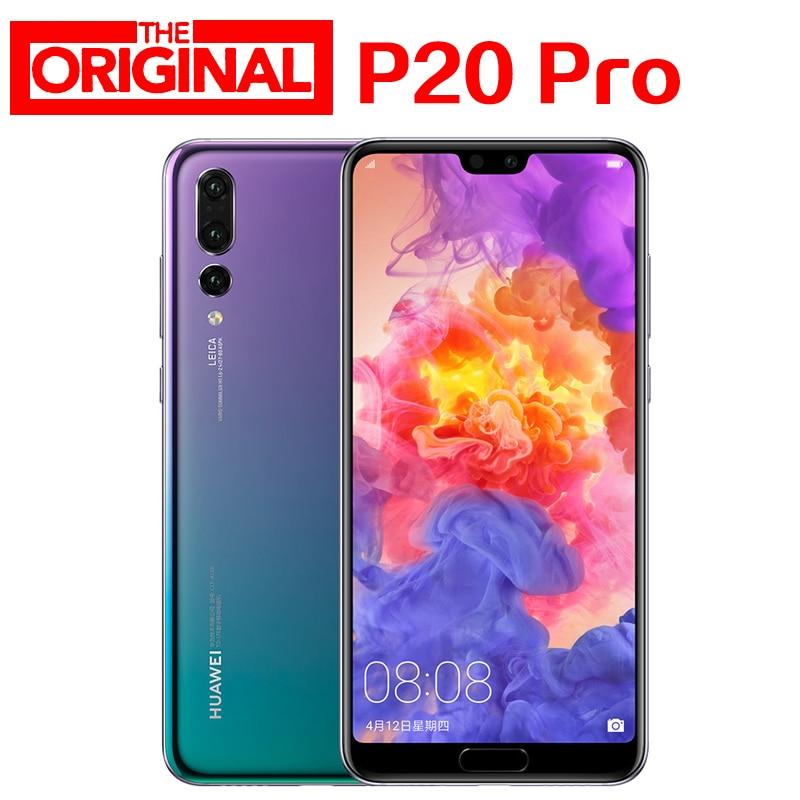 "Estoque! huaWei P20 Pro 4G LTE SmartPhone 6.1 ""Tela Cheia 6 Kirin 970 Android 8.1 2440x1080 GB RAM 256GB ROM NFC 40.0MP Supercharge"