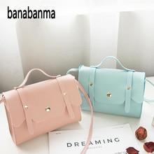 women bag Fashion Leather Simple Solid Handbag Small Shoulde