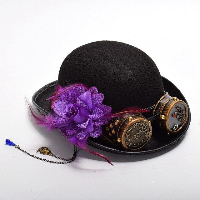 Шляпа в стиле Стимпанк с очками в ассортименте 3