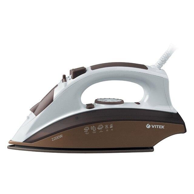 Утюг VITEK VT-1201 BN (Мощность 2200 Вт, резервуар для воды 280 мл, вертикальное отпаривание, паровой удар, защита от накипи, керамическое покрытие подошвы)
