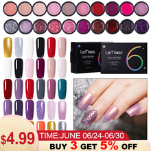 LEMOOC 5ml 6Pcs/Lot Gel Polish Set All For Manicure Semi Permanent Vernis Top Coat UV LED Gel Varnish Soak Off Nail Art Gel Nail modelones 3pcs lot gel nail polish set kit semi permanent uv purple nail polish nail art soak off led uv nail salon set