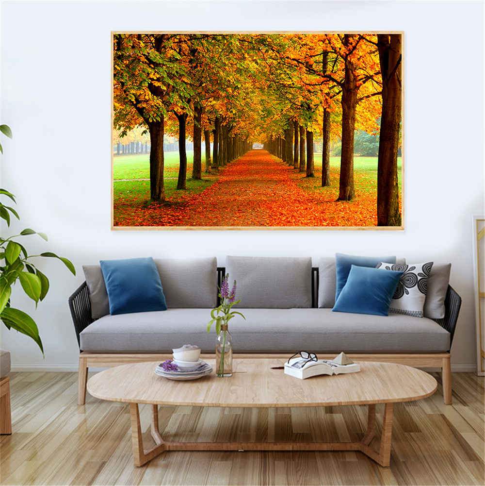 Wall Art Season Picture Autumn Landscape Canvas Painting ...