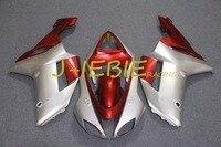 Silver Red Injection Fairing Body Work Frame Kit For Kawasaki NINJA ZX6R ZX6 ZX 6 R