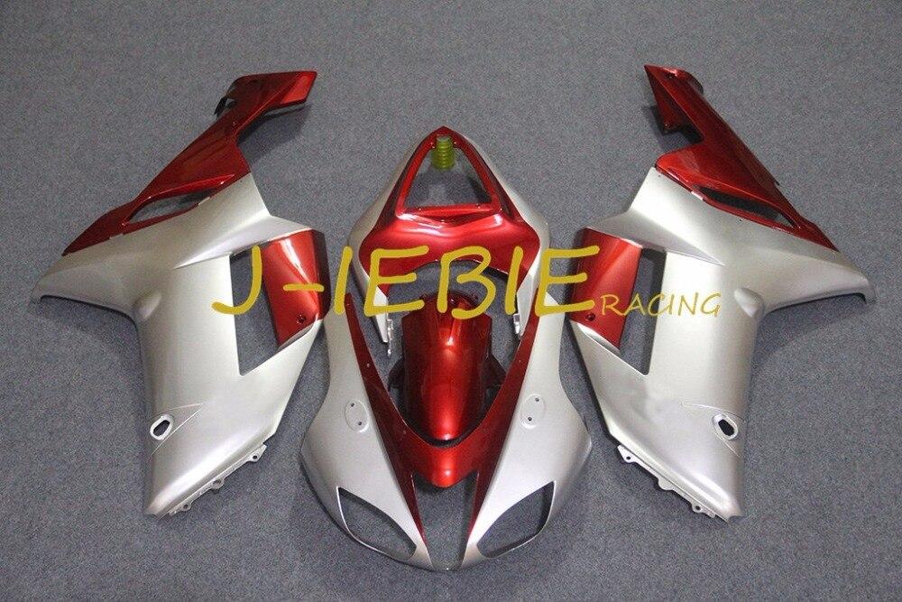 Silver Red Injection Fairing Body Work Frame Kit for Kawasaki NINJA ZX6R ZX6 ZX 6 R 2007 2008