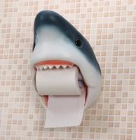 Decorative Tissue Box Durable Wall Hanging Bathroom Animal Shark Dog Fish Cat Toilet Paper Tissue Roll Holder Toilet Holder