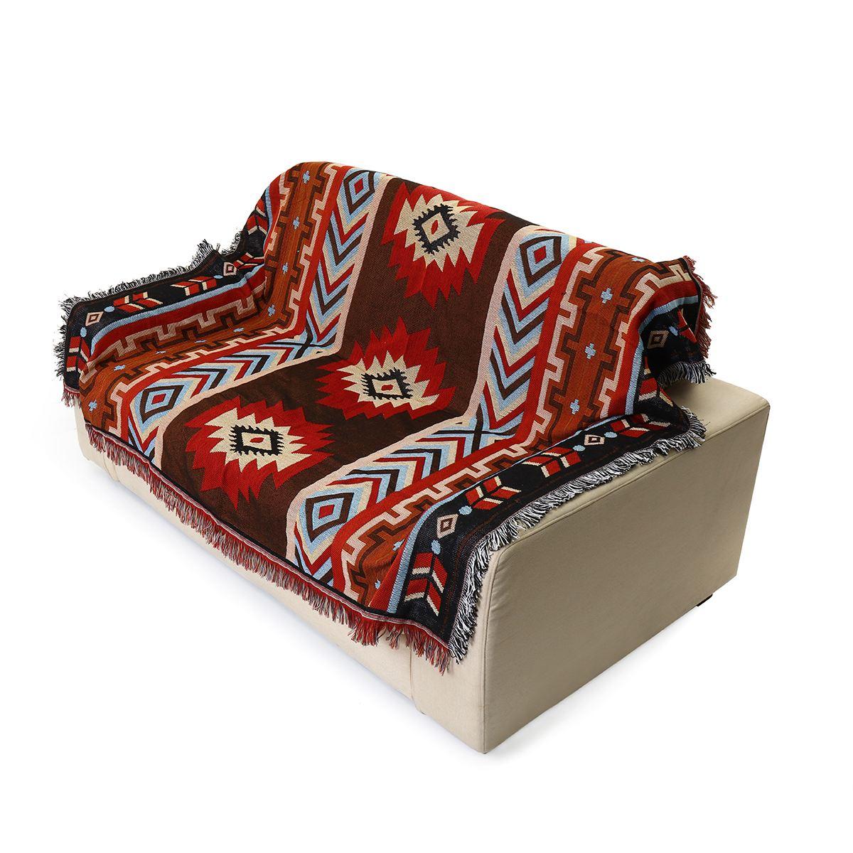 Cotton Aztec Navajo Throw Blanket Mat Cobertor Woven