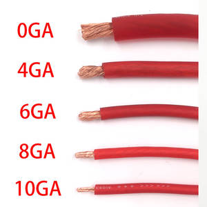 Cable Car-Audio Red-Wire 6GA 10GA High-Quality 8GA 4GA International OFC Hi-Fi Pure-Copper