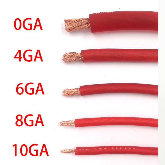 High Quality International Standards Ofc Pure Copper Cable Car Audio Hi Fi Power Cable 10ga