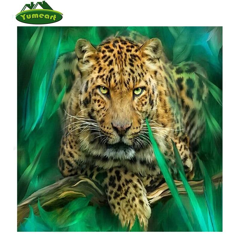 5D DIY 다이아몬드 그림 표범 동물 모조 다이아몬드 자수 크로스 스티치 수지 공예 캔버스 원사 직물 모자이크 수공예품