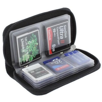 Memory Card Carrying Case Holder Wallet For CF/SD/SDHC/MS/DS  22 Piece 4CF card + 18 SD Card