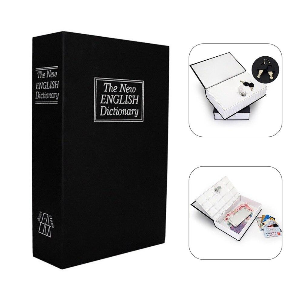 Security Box Dictionary Key Book Safe Lock Box Storage Piggy Bank Creative Money Coins Box Home Accessories